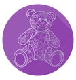 Flat icon of bear toy vector image vector image