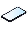full screen smartphone icon isometric style vector image