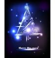 Hi-tech Christmas tree vector image