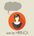 HIRING4 resize vector image vector image