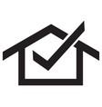 home ok icon vector image vector image