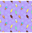 Ice cream lilac textile print food seamless vector image vector image