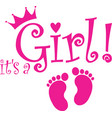 its a girl banner vector image