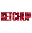 Ketchup sign vector image vector image