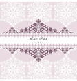 Lace card with ornament pattern vector image vector image