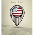 map marker steel with glare and shadows united vector image vector image