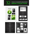 Mega set of creative 3d banners dividers vector image