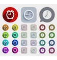 modern flat time icons set vector image vector image