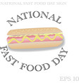 national fast food day sign vector image vector image