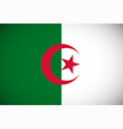 national flag algeria vector image vector image