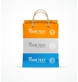 paper bag like option banner vector image vector image