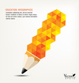 pencil concept infographics for education with vector image vector image
