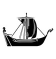 pirate ship icon simple style vector image vector image
