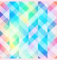 rainbow mosaic seamless pattern vector image