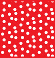 scattered dots red polka background seamless vector image vector image