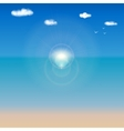 sea shore background for your design vector image vector image