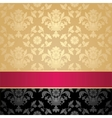 seamless pattern floral decorative background pink vector image vector image