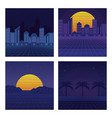 set of sci fi backgrounds vector image