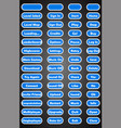 set of text game buttons in flat style vector image vector image
