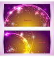 Set of two banners abstract headers with golden vector image vector image