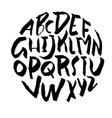 simple alphabet letters handdrawn grunge ink font vector image vector image