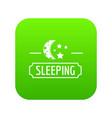 sleeping moon icon green vector image vector image