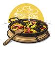 spanish paella vector image