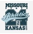Sport T-shirt design Kansas City vector image