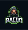 streamer mascot logo esport vector image vector image