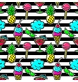 Stripe fabric fashion seamless pattern with vector image vector image