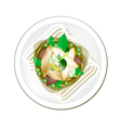 Thai Green Curry with Fish Balls vector image