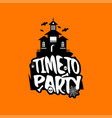 time to party with creative design vector image