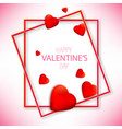valentines day with red hearts on vector image vector image