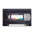 vintage retro vhs cassette vector image