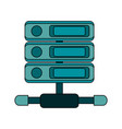 white background with network server vector image vector image