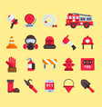 firefighter elements fire department vector image