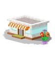 Shop market building vector image
