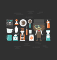 444flat barista with equipmentVS vector image vector image