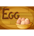 A frame with a basket of eggs vector image vector image