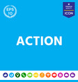 action button vector image