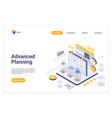 advanced planning isometric landing page