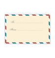 air mail postcard template vector image vector image