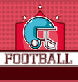 american football red design vector image