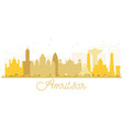 amritsar city skyline golden silhouette vector image vector image