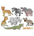 Animals in the safari areas vector image