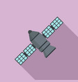 astronomy space station icon flat style vector image