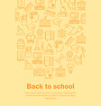 back to school flat pattern vector image