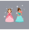 Beautiful princess characters vector image