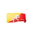 bhutan flag on a white vector image