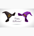 black and purple witch hat on paper corner vector image vector image